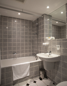 Twin bathroom at 9 Green Lane guest house accommodation Buxton
